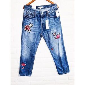 Joie    Embroidered Boyfriend Jeans 29